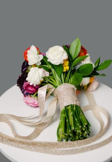 Bagaimana buat bunga tangan
